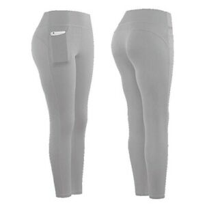 Women Stretch Yoga Leggings Fitness Running Gym Sports Pockets Active Pants