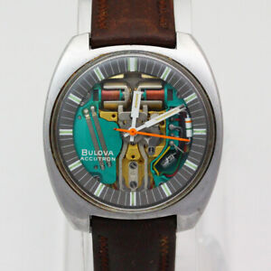 Bulova Accutron Spaceview 214 Tuning Fork N0 Stainless Steel Quartz Wristwatch