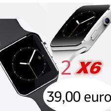 2 PEZZI x6 SMARTWATCH Orologio Bluetooth Sony Xperia z2 ANDROID SIM FOTOCAMERA
