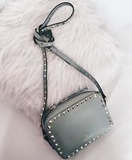 Valentino Rockstud Leather Crossbody Bag Mint Pale Green Green Tea Sorbet W32