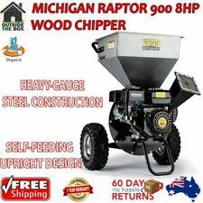Wood Chipper Michigan Raptor 900 8hp Mulcher Shredder Upright Style Garden Arbor