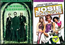 Matrix Reloaded (DVD) & Josie and the Pussycats (DVD) -  NEW Sci-Fi & Comedy