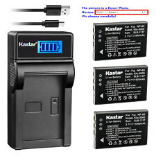 Kastar Battery LCD Charger for Kodak KLIC-5000 & Kodak EasyShare LS743 Camera