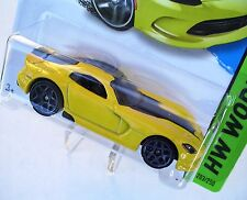 2014 Hot Wheels 203/250. YELLOW 2013 SRT Viper. HW Garage. New in Package!