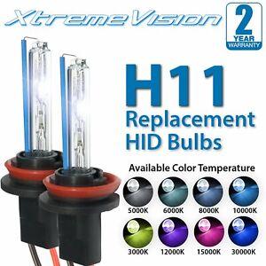 XtremeVision H11 (H8/H9) HID Xenon Bulbs - 4300K 5000K 6000K 8000K 10000K