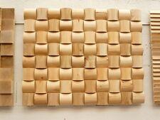 Wandverkleidung 3D Verblender Paneele Dekorplatte Holzfliesen Rund HANDMUSTER