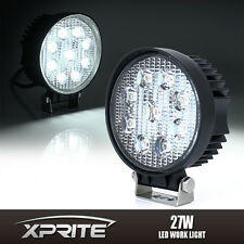 27W 9 LED Round FLOOD LED Light Work Lamp For Offroad 4X4 4WD Truck SUV Jeep