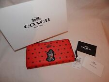 Coach Mickey Mouse Disney Women's Wallet w/ Gift Box Limited Msrp 295 - F59728