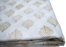 3 Yard Indian Hand block Print Running Loose Cotton White Fabrics Printed Decor