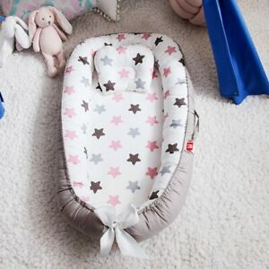 Baby Nest Bed With Pillow Crib Travel Infant Toddler Cotton Cradle For Baby Bed