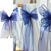 10pcs 18x275cm Organza Chair Cover Sashes Bow Wedding Party Birthday Decor