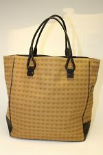 Bottega Veneta Vintage Butterfly Print Canvas And Leather Tote Made in Italy
