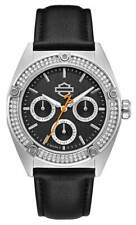 Harley-Davidson Women's Crystal Embellished Stainless Steel Case Watch 76N102