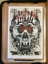 Rhys Cooper Se7en Seven Art Print Poster /100 Bottleneck Mondo 2018 Brad Pitt