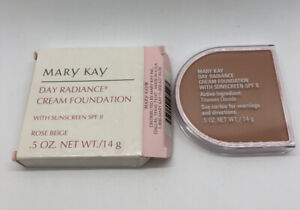 Mary Kay Day Radiance Cream Foundation ROSE BEIGE New in Box. Hard To Find
