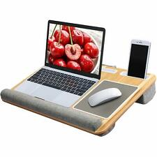 Cushion Laptop Stand Lap Tray Multifunction Desk Screen Riser With Phone Holder