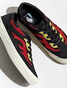 Vans Bold Flamethrower Black Red Fire🔥 Sneakers Men 10.5 W 12 UltraCush Flames
