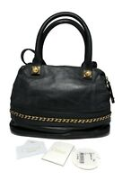 CHLOE LARGE BLACK LEATHER 'KIRA' BOWLER SATCHEL BAG, $2250