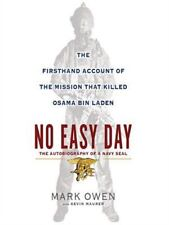 NO EASY DAY by Mark Owen hardcover book navy seal Iraq war