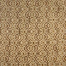 A0015E Beige Gold Brown Ivory Pointed Oval Brocade Upholstery Fabric By The Yard