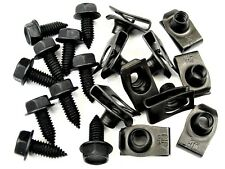"Chevy Truck Body Bolts & U-nut Clips- 5/16"" x 13/16"" Long- 1/2"" Hex- 20 pcs #392"