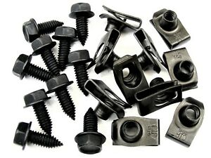 "GMC Truck Body Bolts & U-nut Clips- 5/16-18 x 13/16"" Long- 1/2"" Hex- 20 pcs #392"