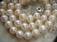 VINTAGE REAL FRESHWATER CULTURED PEARL 925 Clasp NECKLACE BRIDAL SPECIAL GIFT