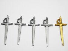 Playmobil Espada Sword Médiévale Pirate Chevalier - Épées Sabres Gris Or AC1636