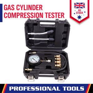 Engine Cylinder Compression Test Gauge Detector Kit Set For Car Motorcycle Tool