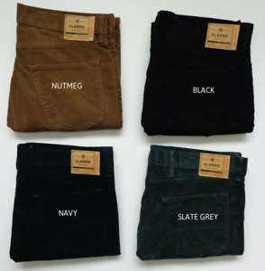 Mens Ex M&S REGULAR FIT Corduroy Jeans with Stretch 3 Colours Size 30 - 42 BNWOT