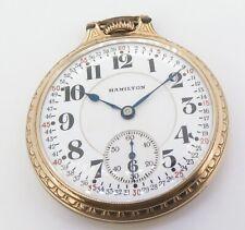 .1925 Hamilton 21 Jewel G/F OF Railroad Cal 992 Size 16s Fancy Case Pocket Watch