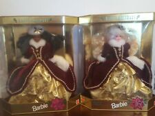 Special Edition 1996 Happy Holidays Christmas Barbie lot of 2 both  New - NRFB