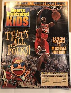 Mar '99 Sports Illustrated for Kids MICHAEL JORDAN Complete with Uncut cards