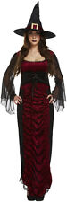 Ruby Sexy Witch Womens Halloween Fancy Dress Costume Outfit Size 12 - 14