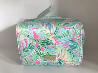 Lilly Pulitzer NWT Large Hanging Makeup Case Tropical Storm Pink Beautiful!