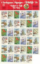 1976 - National Wildlife Federation Stamps for Christmas Sheet