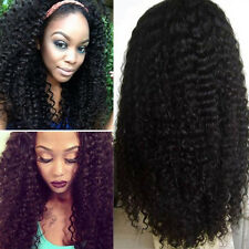 African American Hair Style Black Afro Kinky Medium Long Curly Women's Wigs-UK