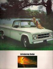 Dodge Adventurer Pick-Up & Camper 1967-68 USA Market Sales Brochure