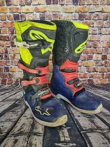 Alpinestars  Blue Red Black Yellow Tech 5 Boots Mens Size 11 2015015