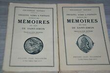 Mémoires de Saint Simon (Anécdoctes, scènes et portraits ) 2v  / Ref C30