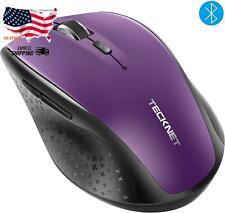 Tecknet Bluetooth Wireless Mouse (Bm308) (Purple)