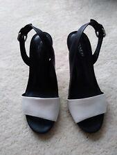 Women's black/white Coach sandal heels size 7 B