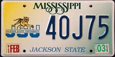 "MISSISSIPPI "" JACKSON STATE UNIVERSITY JSU TIGER "" MS Specialty License Plate"