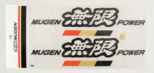 8 Inch GENUINE Mugen Power Decal Stickers Black COLOR Honda Acura CIVIC RSX FIT