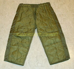 US Military Cold Weather M65 Quilted OD Trousers Field Pants Liners Many Sizes