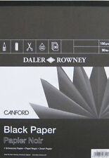Daler Rowney canford Pad-Negro 150gsm Paper-A3