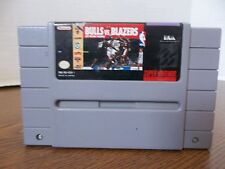 SNES super nintendo video game only bulls vs blazers the NBA playoffs basketball
