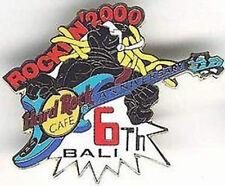 Hard Rock Cafe BALI 2000 6th Anniversary PIN Dreadlocks Man Playing Guitar #668