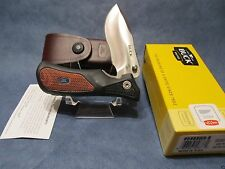 Buck Folding Ergohunter Pro Knife with Leather Sheath Brand New Mint in Box