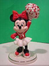LENOX MOUSEKETEER CHEER MINNIE MOUSE Figure NEW in BOX Disney Mickey cheerleader